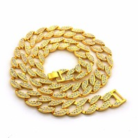 NEW 2 ROW STONES JAY Z STYLE CHAIN NECKLACE HIGH QUALITY ICED OUT CUBAN LINK CHAIN