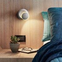 5 3w ledウォールライト現代創造ムーン形状ラウンド通路壁ランプ 360 度回転調節可能な寝室のベッドサイドランプアルミ