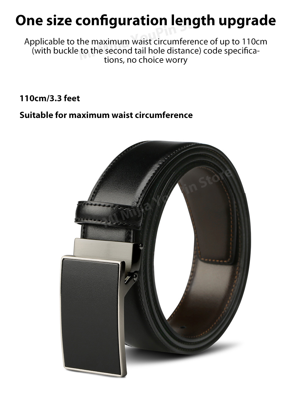 Original xiaomi mijia seven-sided Italian leather double-sided business belt 3.5cm two-color double-sided cut length (12)