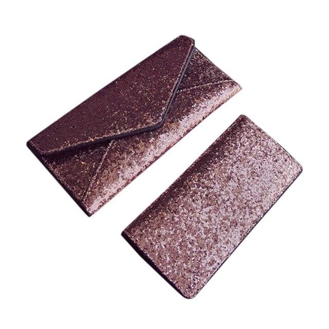 Women purse wallet business card holder portefeuille femme 2pcs women purse wallet business card holder portefeuille femme 2pcs fashion women sequins wallet clutch card holder colourmoves