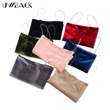 Uwback Velvet Crop Top Women 2017 New Summer Sexy Cropped Tops Camisole Mujer Green/Pink Slim Tanks Crop Tops Woman TB1380
