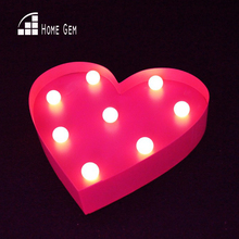 10inch metal heart shape LED Marquee Sign LIGHT UP  Vintage signs light valentine's day gift wedding Indoor Deration hot sale car shape marquee sign light up vintage alphabet iron sheet night light wall lamps holiday indoor outdoor deration lamp