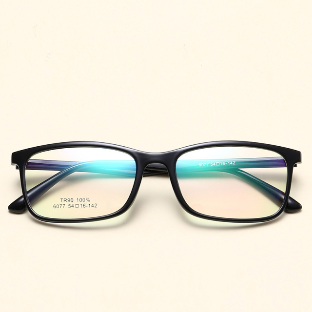 9564876d4f2 TR90 Glasses Men Women Square Spectacles Eyeglasses Frames Prescription Man  Woman Youth Eyeglass Diopter Eyewear Plain