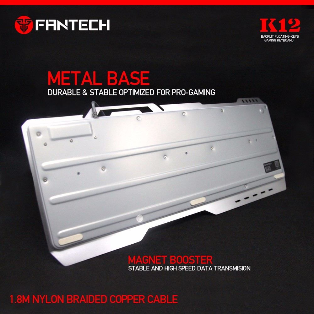 Fantech K12 Metal Body Chroma Luminous Light Backlit Gaming Keyboard Outlaw The Real Professional From Which Feature 19keys Anti Ghosting For A Combination Moves And Action In Time