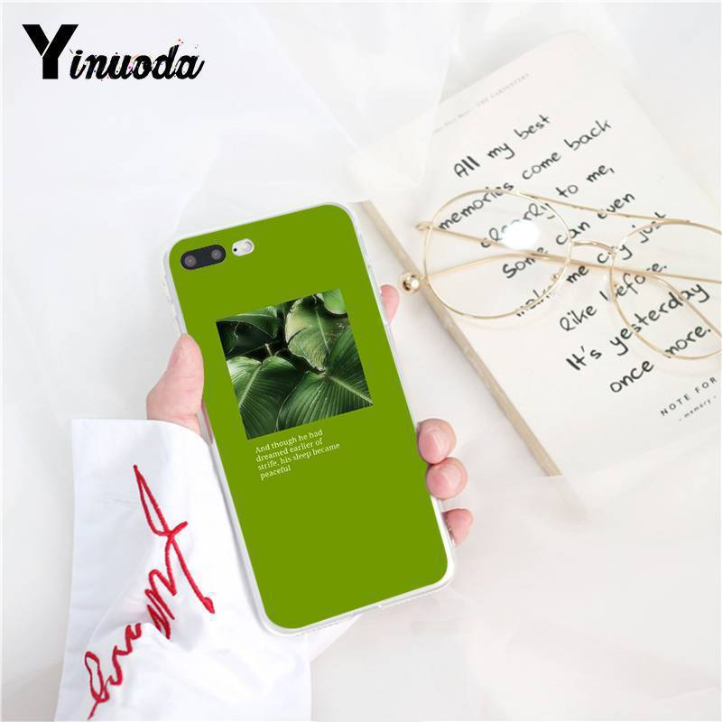 Yinuoda Fashionable Retro Floral Abstract Character TPU Phone Case for iPhone 5 5Sx 6 7 7plus 8 8Plus X XS MAX XR Fundas Capa