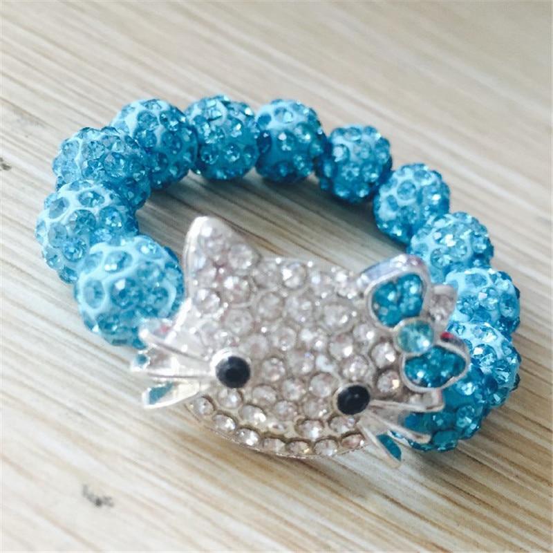 1 SZTUK Hello Kitty Bransoletki dla dzieci Handmade Rope Chain Wrap - Modna biżuteria - Zdjęcie 5