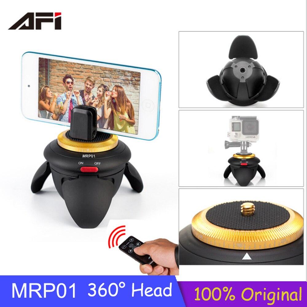 D'origine 360 Têtes AFI MRP01 Mini Électrique Panorama Rotation Time Lapse Trépied Tête pour GoPro Caméra pour Selfie Bâton Smartphone