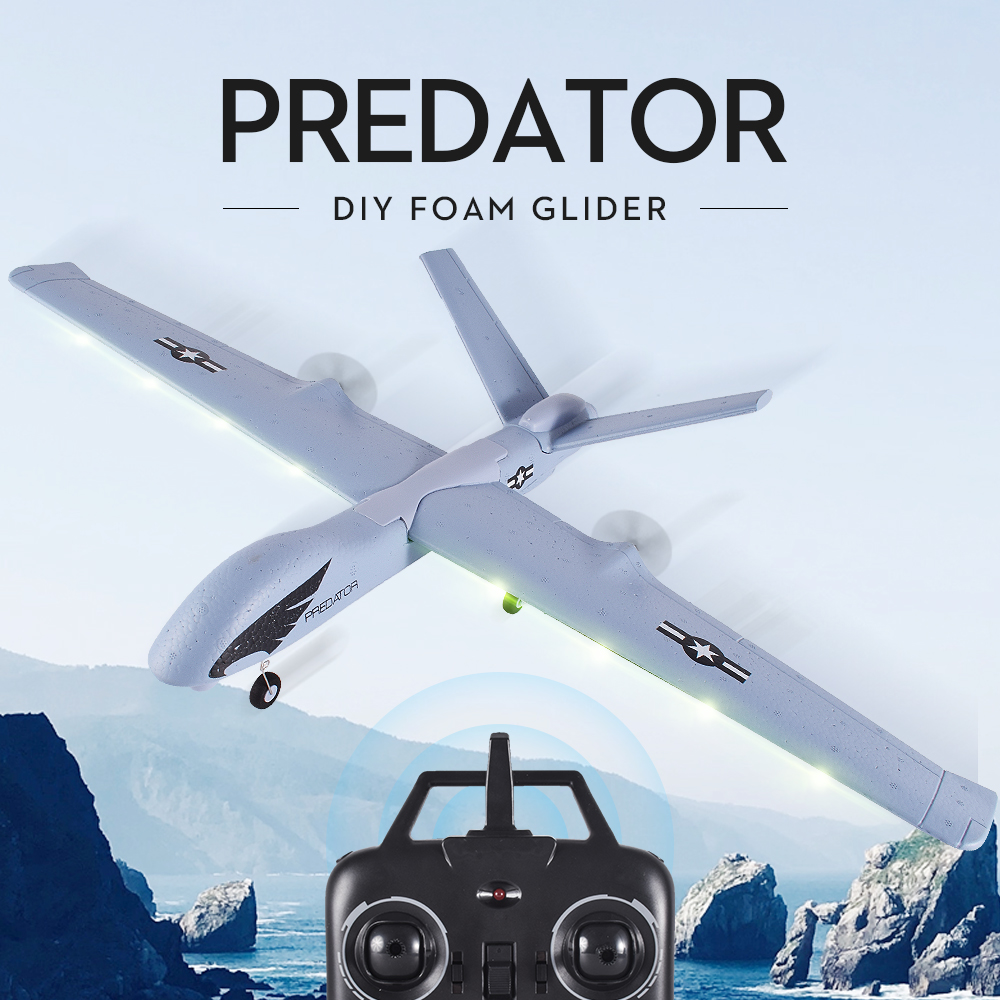 Flying Model Gliders RC Plane 2.4G 2CH Predator Z51 Remote Control RC Airplane Wingspan Foam Hand Throwing Glider Toy Planes цена