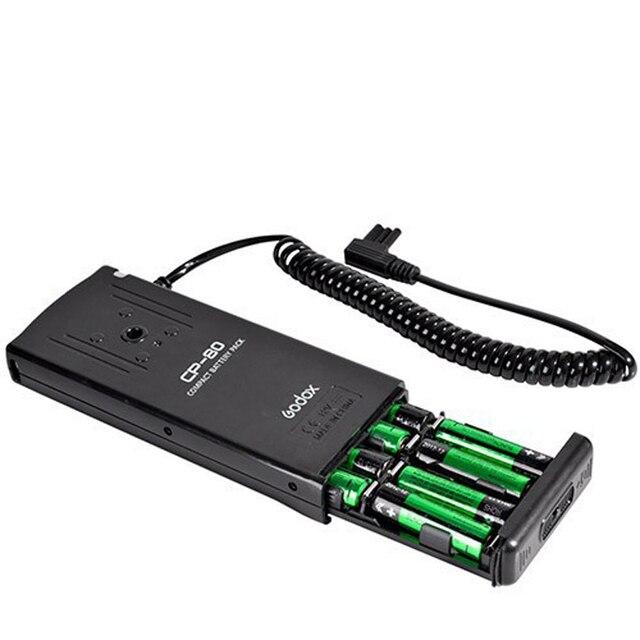 حزمة بطارية فلاش خارجية من Godox CP 80 لبطارية كانون 550EX 580 ex II Speedlite Flash F15197 علبة شاحن سريع الطاقة
