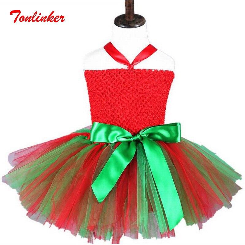 Baby Girls Princess Christmas Elf Cartoon Tutu Dresses Costumes Kids Fancy Theme Party Cosplay Dress Vestido