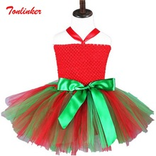 Baby Girls Princess Christmas Elf Cartoon Tutu Dresses Costumes Kids Fancy Theme Party Cosplay Dress Vestido
