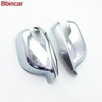 Bbincar Side Door Rear View Mirror Cap Cover Trim ABS Chrome 2pcs For Honda Crosstour 2010 2016