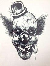 NEW ARRIVAL 21 X 15 CM Clown Temporary Tattoo Stickers Temporary Body Art  Waterproof#117