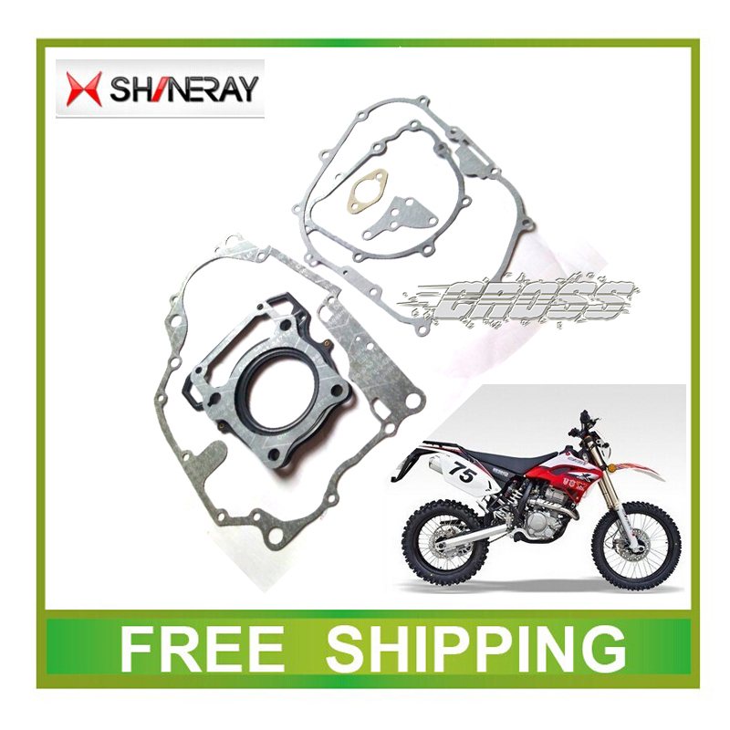 xy250gy SHINERAY 250CC x2 x2x engine gasket paper cylinder head gasket full set font b accessories