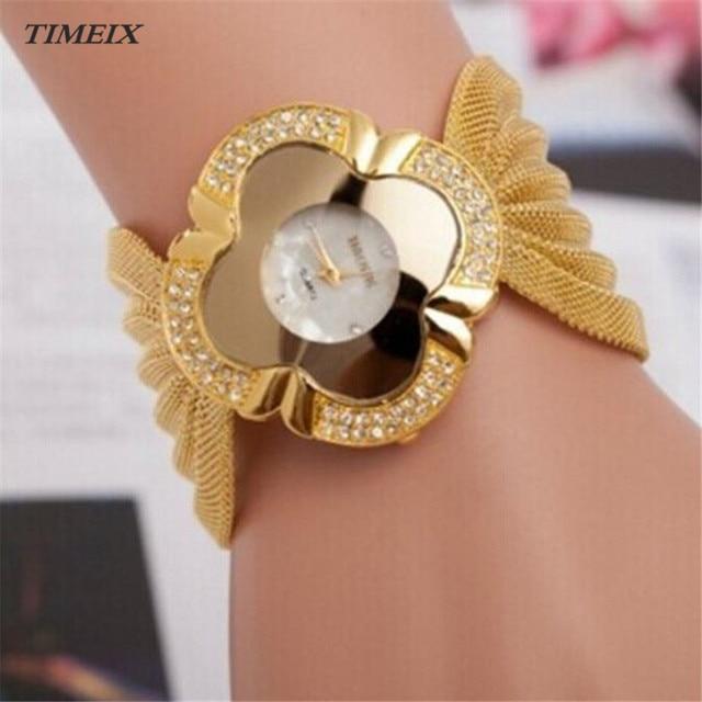 Fashion Watch Women Quartz Watch Lady Diamond Bracelet Watch Mirror Luxury Quart