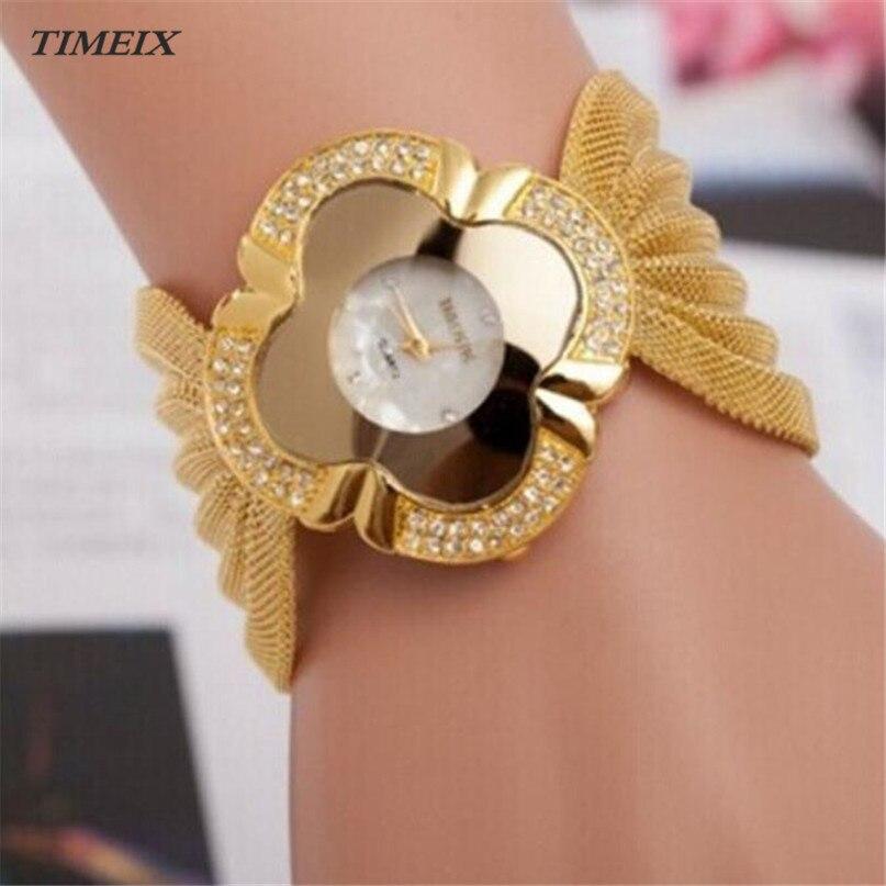 221145d7007 Relógio de forma Das Mulheres Relógio de Quartzo Senhora Bracelete de  Diamantes Espelho Relógio de Quartzo Luxo Mulheres Wwristwatch Presente  Frete Grátis