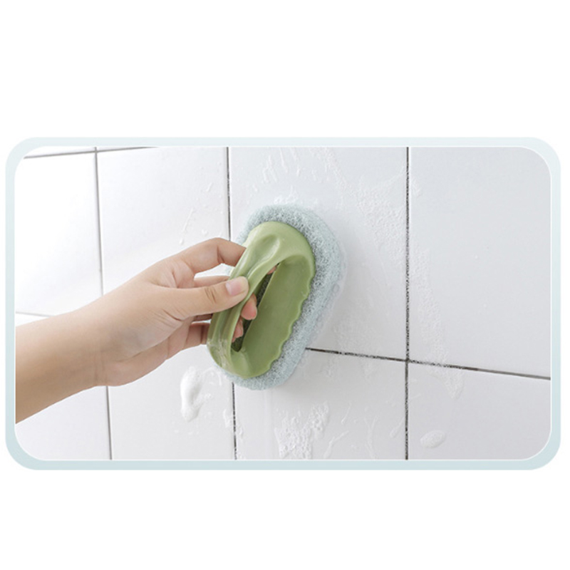 Magic Sponge Cleaning Brush Powerful Decontamination Bathtub Tile Kitchen Supplies Washing Pot Cleaning Sponge Brush Clean Tools in Cleaning Brushes from Home Garden