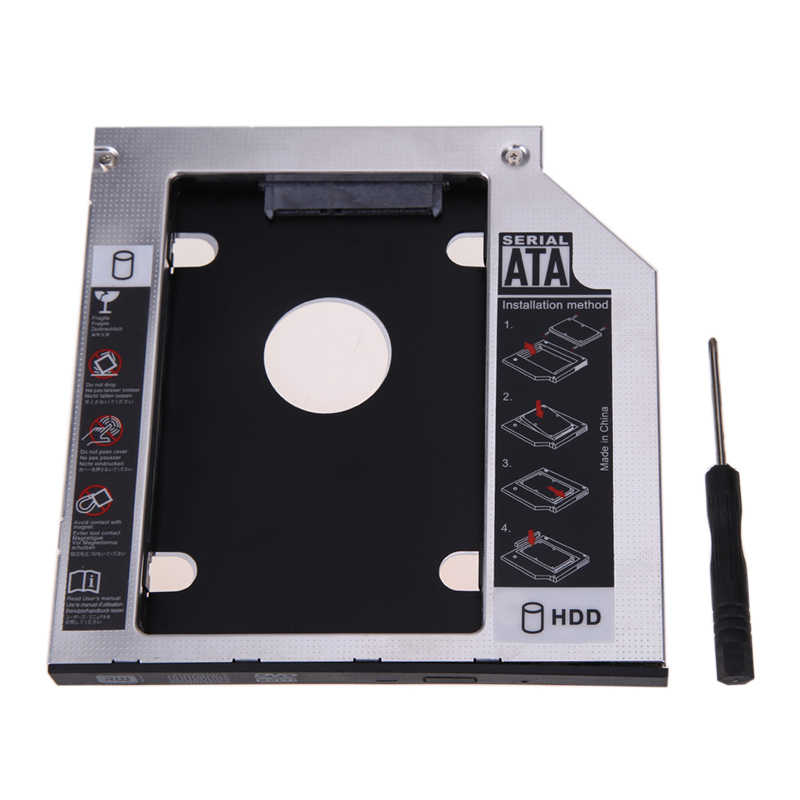 Hohe Qualität 9,5mm Universal Aluminium SATA 2,5 ''2nd HDD SSD Gehäuse Festplatte Caddy Fall für CD/ DVD-ROM Optical Bay