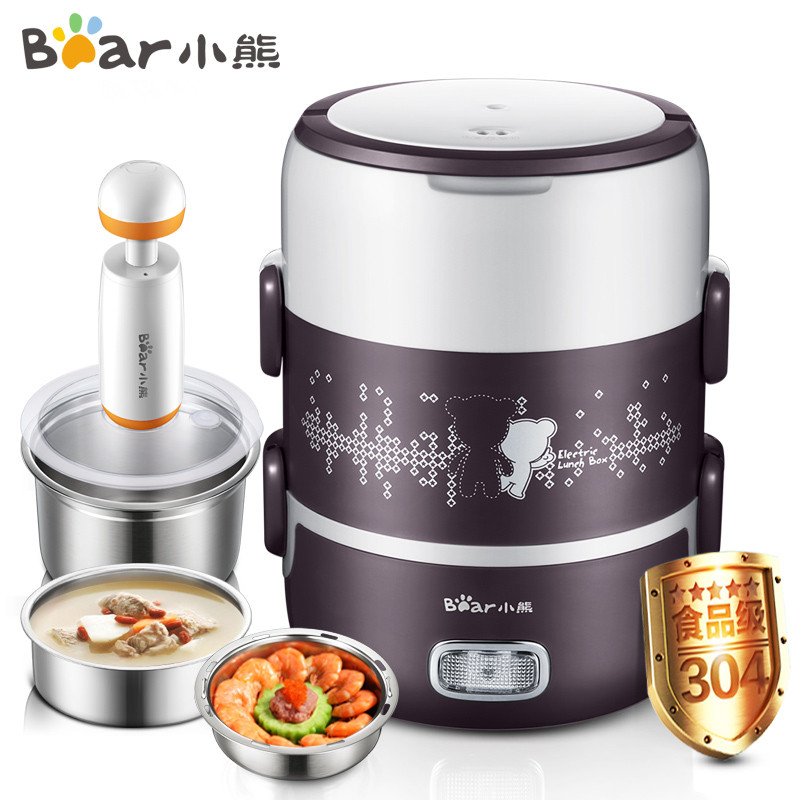 220V/270W Mini Single/Double Layer 2L Electric Rice Cooker Stainless Steel Inner Lunch Box Multi Cooker With Vacuum Pump cukyi multi functional programmable pressure cooker rice cooker pressure slow cooking pot cooker 4 quart 900w stainless steel