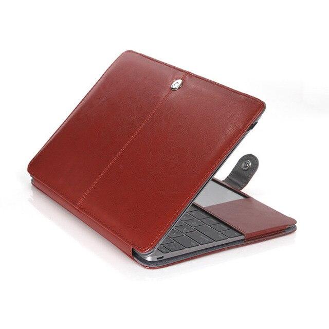 Бизнес Смарт-Чехол ИСКУССТВЕННАЯ кожа Сумка Чехол Для Macbook Air 13 11 Pro Retina 15 13 12 сумка Для ноутбука Для Macbook Pro 15