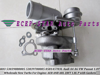 Free Ship K03 005 53039880005 53039700005 Turbo Turbocharger For AUDI A4 B5 A6 C5 For Volkswagen VW Passat 1.8T 96 1.8L AEB ARL