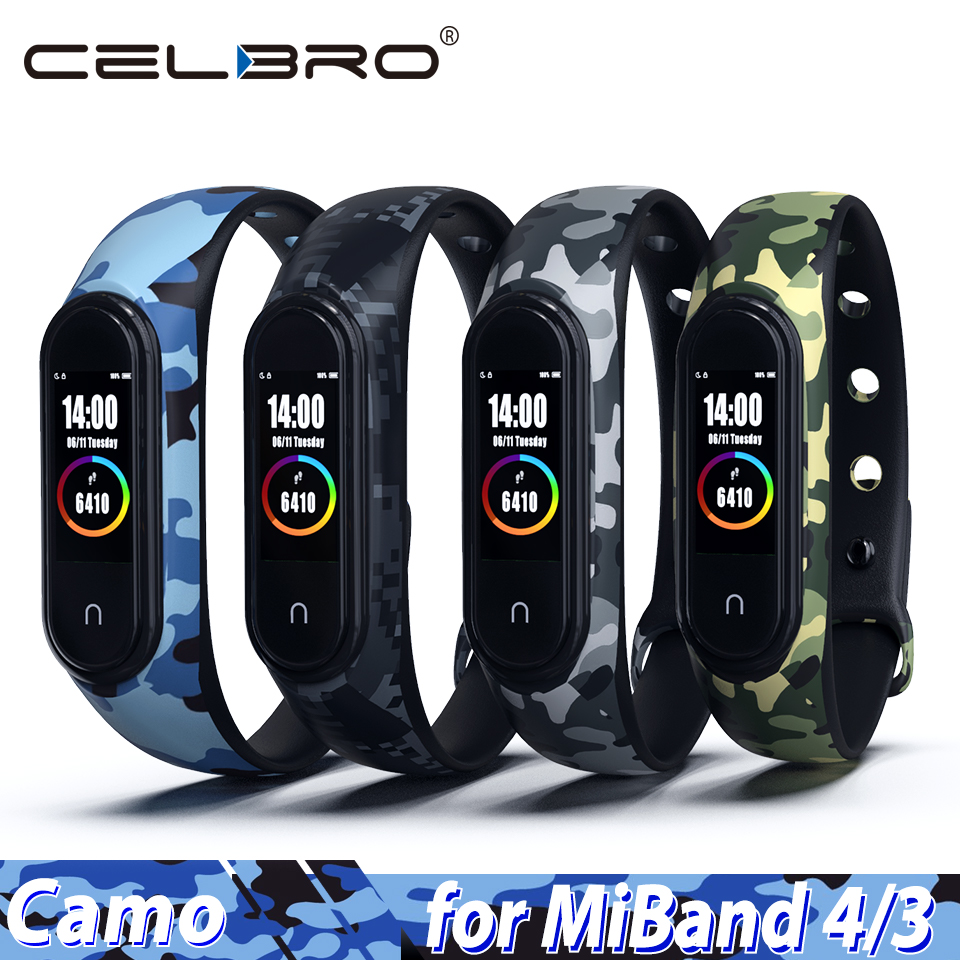Bracelet Wristband Watch-Strap Replacement Nfc-Belt Xiaomi Silicone Camouflage for 4/3-strap/Camouflage/..