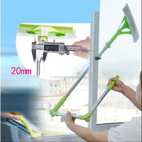 Telescopic Rod Cleaning Window Device Glass Cleaning Brush Window Cleaning Brush Tool Double Side Glass Scraper Wiping Home