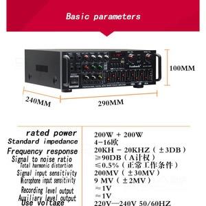 Image 3 - Kaolanhon 12V 220V/110V 300W*2 high power Bluetooth amlifier AV 326BT home ampplifier EQ equalizer square dance car amplifier