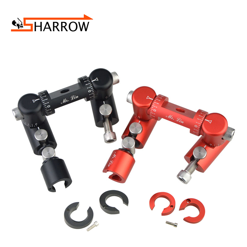 1 Set Adjustable Double sided V Bar Connector Tactical Damping Absorber Competition Stabilizer Carbon Balance Archery