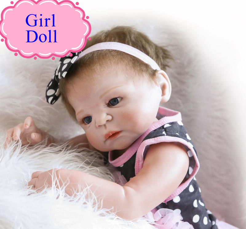 NPK Vivid Full Silicone Reborn Baby Doll With Fashion Hair Band About 22inch Reborn Bebe Babies Dolls As Kids Girl Brinquedos npk latest full silicone bonecas bebe reborn dolls with magnetic pacifier 22inch newborn babies doll as gift for girl brinquedos