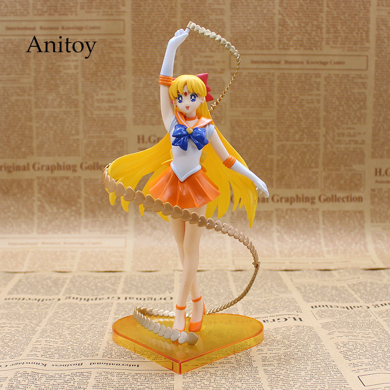 Anime Figuarts Zero Sailor Moon Sailor Venus Minako Aino 20th Anniversary PVC Action Figure Collectible Model Toy 19cm KT640 shfiguarts batman injustice ver pvc action figure collectible model toy 16cm kt1840