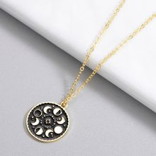 CHENGXUN Trendy Moon Phase Stainless Steel Necklace for Women Luminous Enamel Necklace Galaxy Jewelry Romantic Gift for Her(China)