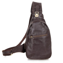 Chest Bag For Men Real Leather Brown Business Travel Casual Brand Shoulder Bags Waist Pack
