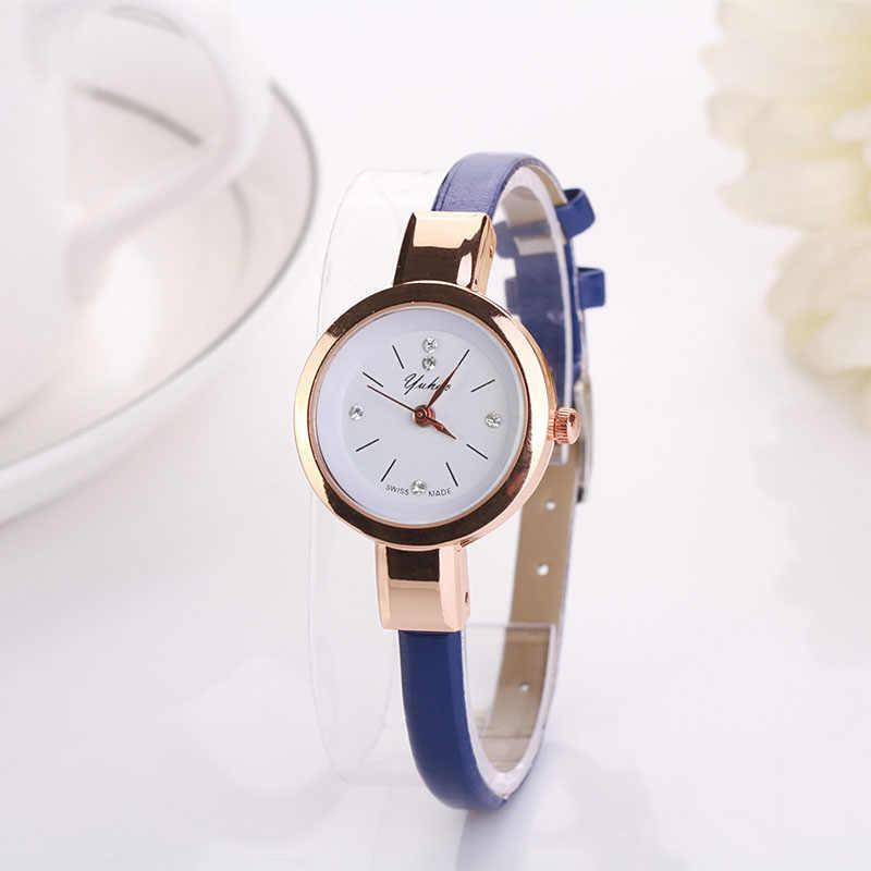 2019 נשים שעונים יוקרה זהב צמיד שעון קוורץ שעון גבירותיי רצועת עור שעונים reloj mujer relogio feminino Dropshiping