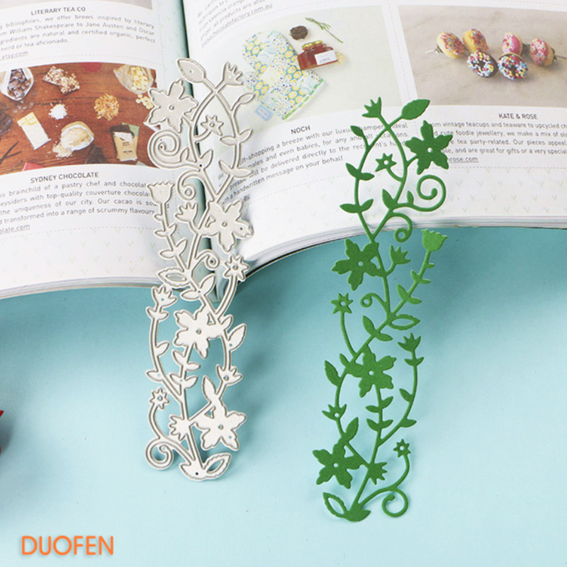 Flower Branch Cutting Dies Leaf Dies for Craft Scrapbooking Album Embossing a2d