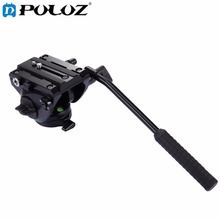 PULUZ Video Tripod Head& Quick Release Sliding Plate for DSLR Panoramic head for monopod Monod Tripod Slider Video Film Shooting puluz heavy duty video camera tripod action fluid drag head with sliding plate for dslr