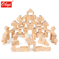 Wooden children pile up 100 grain gift box wood environmental protection building blocks early education educational toys