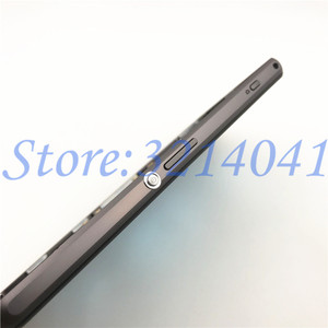 Image 5 - Original Front Middle Frame Port Plug Cover Back Battery Cover For Sony Xperia Z1 Compact mini D5503 Full Housing