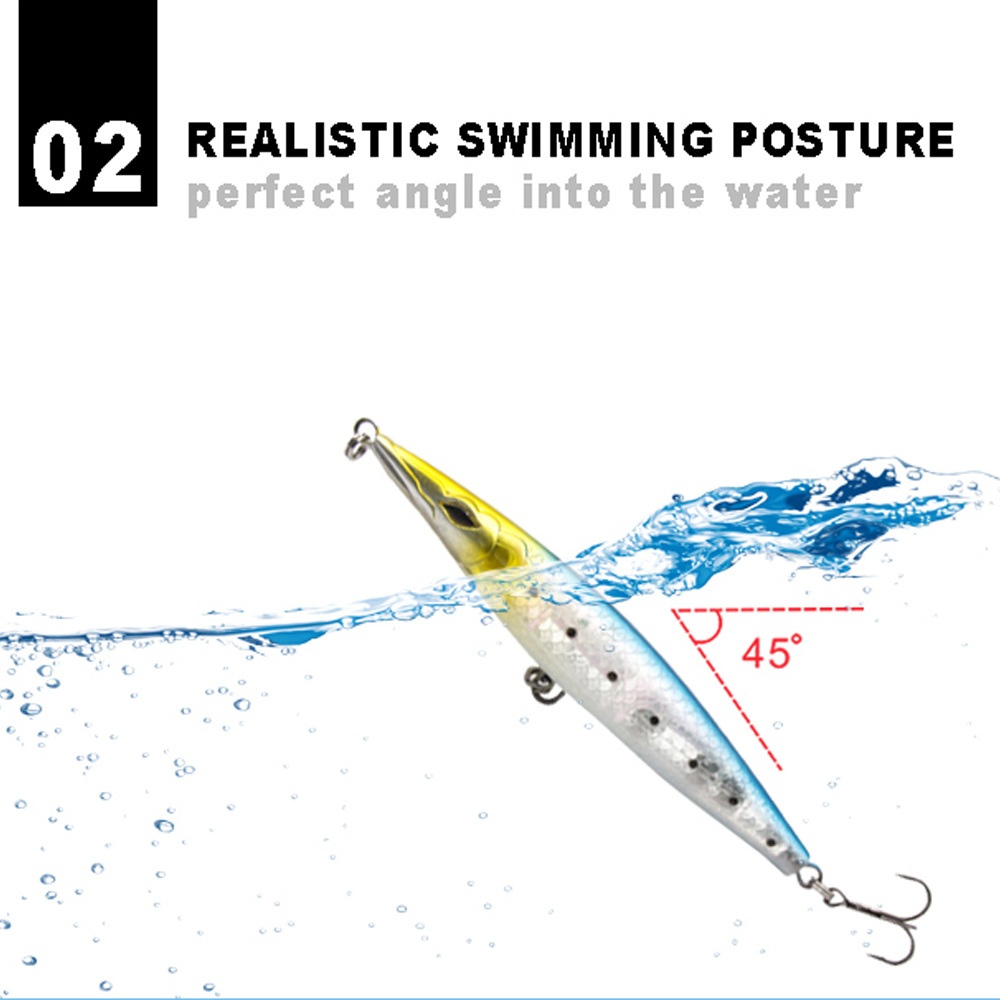Hunthouse fishing lure floating Pencil lure Asturie 110mm 90mm topwater trolling stickbait for fishing bass lure pikelure leurre