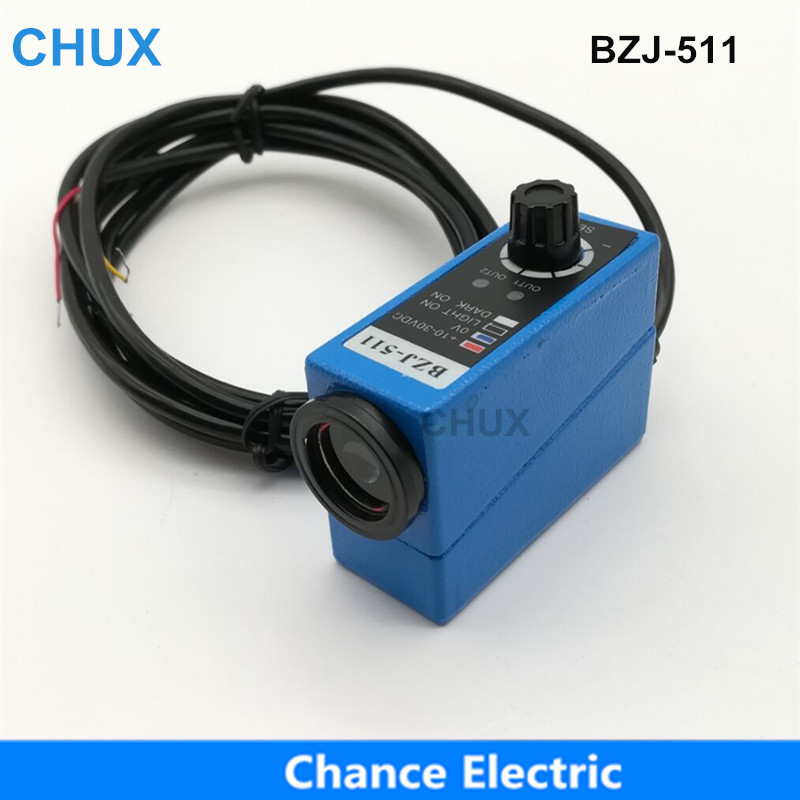 CHUX Popular Sensors Packing Machine Infrared Sensor BZJ-511 Color Mark Sensors Optical Switch