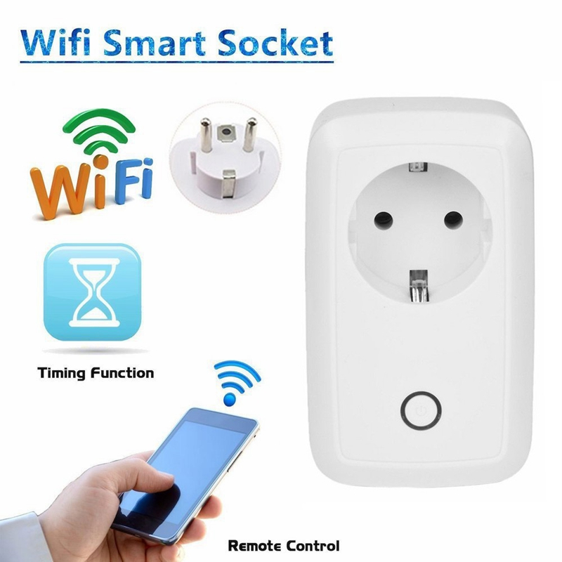 Wifi Smart Socket Wireless Outlet Control Plug 10A EU Standard Socket For Smart Home Automation Control Home Products