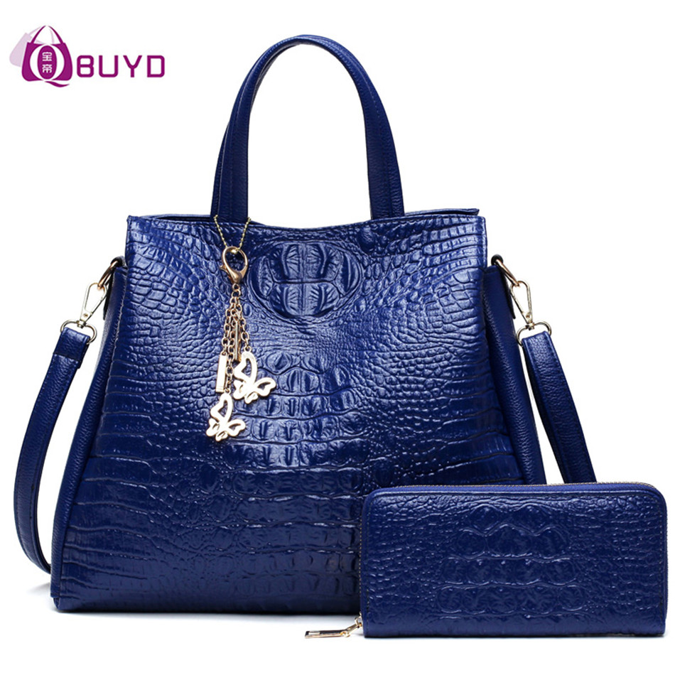 Fashion Crocodile Pattern Women Shoulder Bag Women Handbags Ladies Leather Tote Bag Women's Handbag Purses And Handbag Sac Femme 2016 fashion spring and summer crocodile pattern japanned leather patent leather handbag one shoulder cross body bag for women