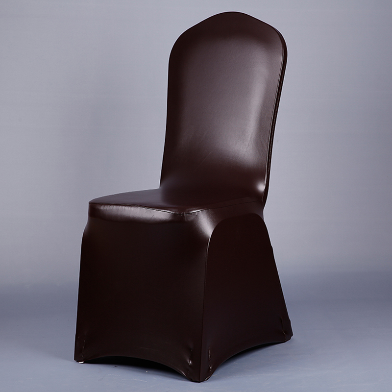 Exceptionnel Deep Brown Leather PU Chair Covers Elastic Fashion Chair Seat Covers For  Weddings Banquet Dining Decoration Chair Covers V20 In Chair Cover From  Home ...