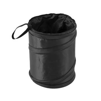 Black Wastebasket Trash Can Litter Container Car Auto Garbage Bin/Bag Waste Bins Cleaning Tools Accessories