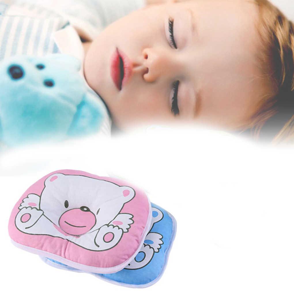 Младенческой медведь узорная подушка для новорожденных Детское мягкое Подушка с поддержкой шеи Pad Предотвращение плоской терапии головы форменная подушка медведь