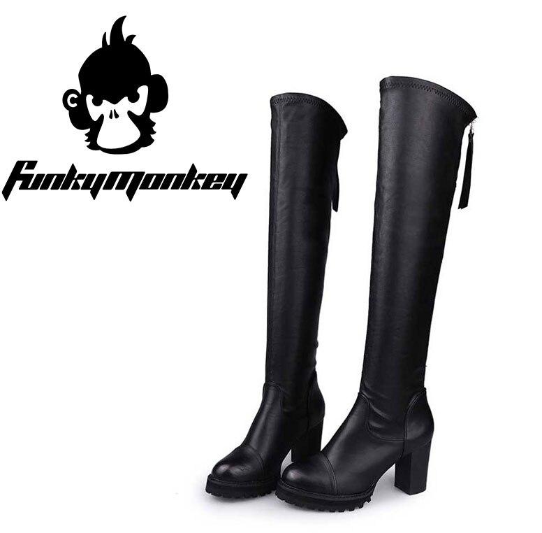 8a99790441ed4 2016 Women Fashion Over-Knee Botas Bototos Outdoor Mujer Gamuza Tactical  Zapatos De Futbol Hombre Casual High Heels Boots
