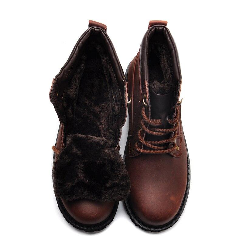 Couro yellow Dos Moda Tornozelo Black Da Até Inverno Qualidade Botas brown Alta Genuínos De Sapatos Homens Quentes Super Reetene Rendas SqH0Rxa