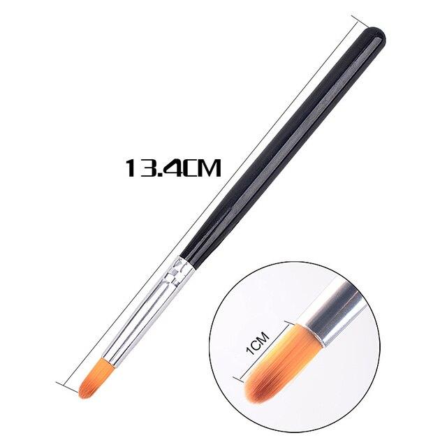 1 pièces tige noire ongle tache stylo Nylon cheveux tête ronde Nail Art dégradé stylo bricolage manucure ongles outils de beauté