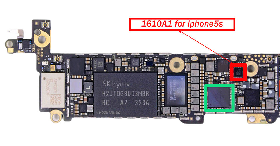official photos 57c97 9c090 US $13.83 |Mobile Phone Adapters charging control chip for iphone 5S 5c 6s  plus u2 charger ic 36pin 1610A1 1610A2 1610A3 SN2400B0 power ic-in Mobile  ...