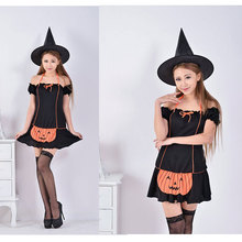 Ensen calabaza bruja cosplay atraer apparel tentación sexy fancy dress de halloween fantasia feminina traje adulto